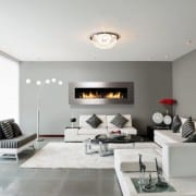 Frame 1400 Stainless steel wall mounted bioethanol fire