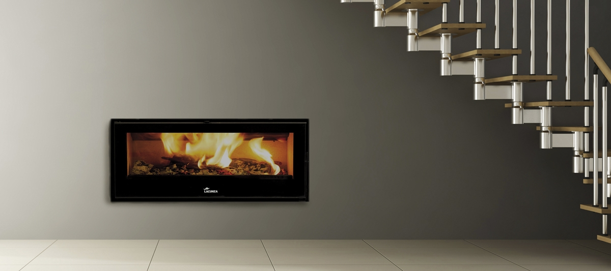 Lacunza Silver Built In Closed Combustion Fireplace