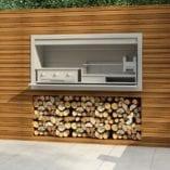 gas and wood braai