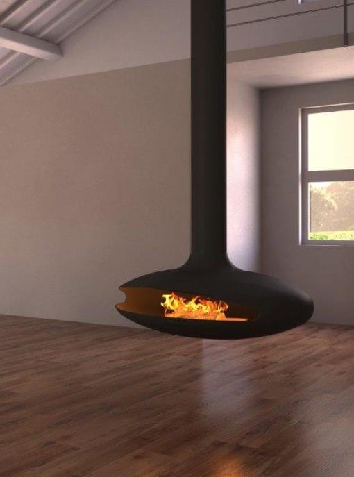 Aero Suspended Fireplace