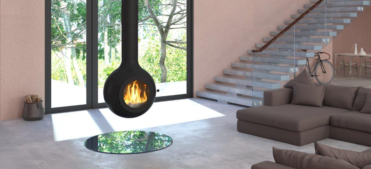 Globe hanging fireplace (2)