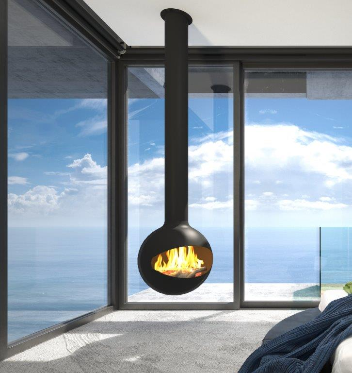 Halo Hanging Fireplace Suspended Fireplace Signi Fires