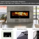 Lacunza Silver closed combustion fireplace Inserts