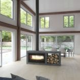 Lacunza Nickel 1000 Double sided closed combustion fireplace